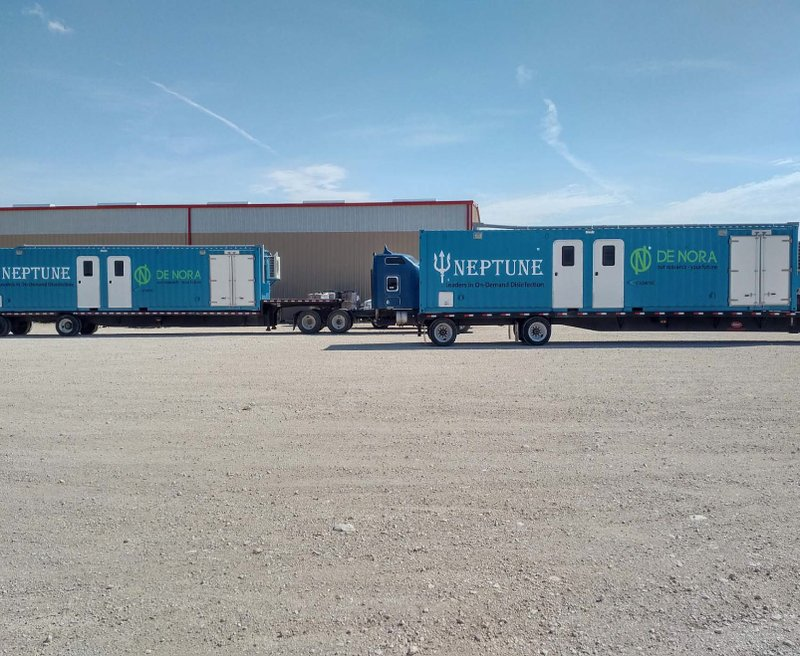 De Nora Delivers Eight ClorTec® Mobile Disinfection Systems to Treat Frack Water in the Permian Basin, Texas, Bolstering Presence in Produced Water Recycling